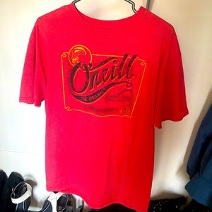 O'Neill t-shirt size large red with logo